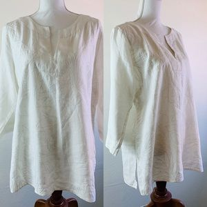 Tommy Bahama Linen Embroidered Tunic